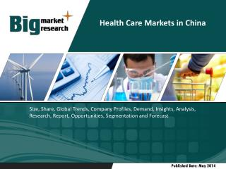 Health Care Markets in China-economic trends, investment environment, industry development, supply and demand,
