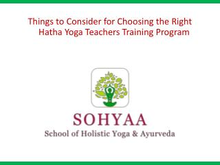 Hatha Yoga Teachers Training Program