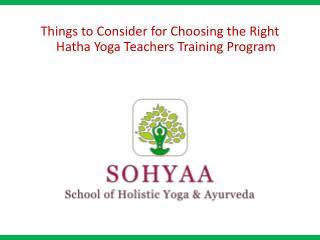 Hatha Yoga Teachers Training Program