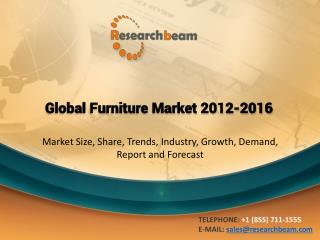 Global Furniture Market 2012 to 2016 : Growth, Forecast, Industry, Landscape, Overview