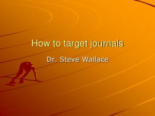How to target journals