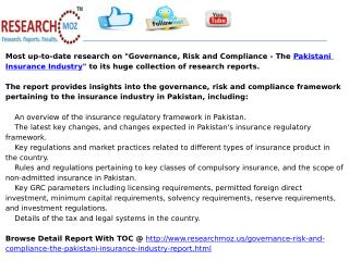 Governance, Risk and Compliance - The Pakistani Insurance Industry