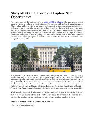 Top Medical Universities to Study Medicine in Ukraine
