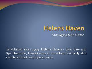 Skin Care Clinic Honolulu, Hawaii