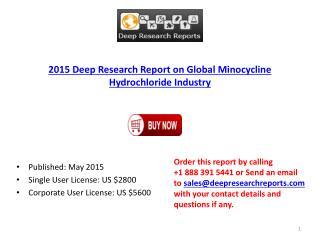 Global Minocycline Hydrochloride 2015 Deep Market Research Report