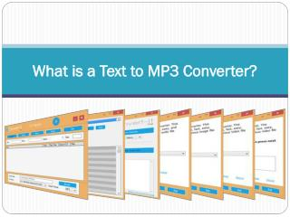 What is a Text to MP3 Converter
