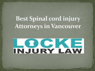Best Spinal cord injury Attorneys in Vancouver