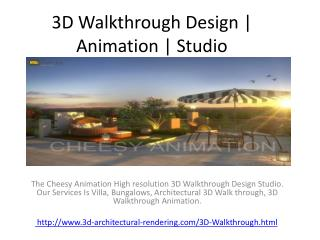 3D Walkthrough Design | Animation | Studio