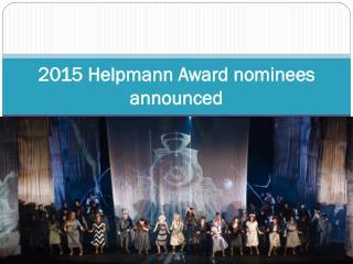 2015 Helpmann Award nominees announced