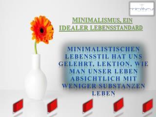 Minimalismus, Ein Idealer Lebensstandard