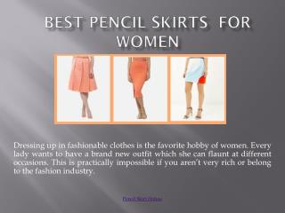 Women's Pencil Skirts Online