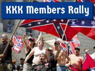 KKK Members Rally