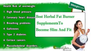 Best Herbal Fat Burner Supplements To Become Slim And Fit