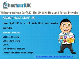 Affordable UK Shared Web Host