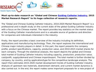 Global and Chinese Guiding Catheter Industry, 2015 Market Research Report