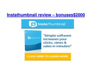 InstaThumbnail review and Bonus over $2000