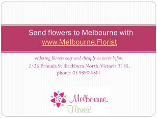 Melbourne florist delivery service introduction