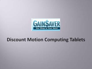 Discount Motion Computing Tablets