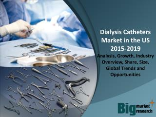 US Dialysis Catheters Market - Demand, Trends, Growth & Forecast to 2019