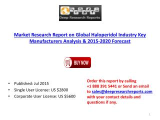 International and China Haloperidol Market Research Report 2015