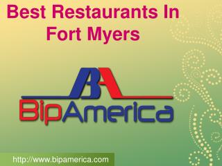 Best Restaurants In Fort Myers