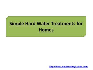 Simple Hard Water Treatments for Homes