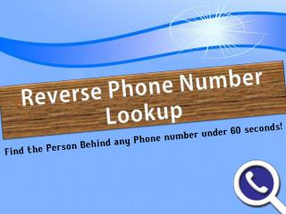 Reverse cell phone number lookup