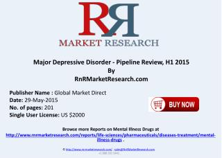 Major Depressive Disorder Therapeutic Assessment Pipeline Review H1 2015