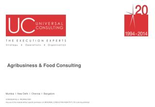 Agribusiness and Food Consulting - UniversalConsulting.com