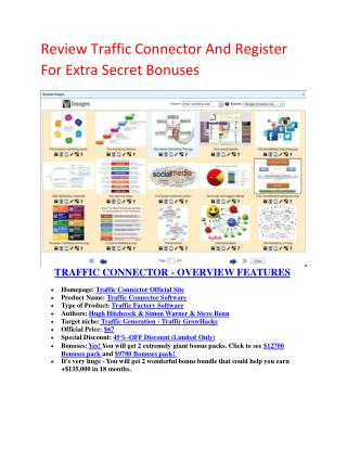 Traffic Connect software review and Secret  100 items bonuses