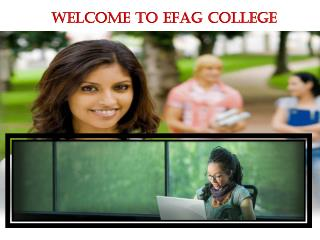 E Learning Courses at EFAG College UK