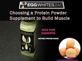 Choosing a Protein Powder Supplement to Build Muscle