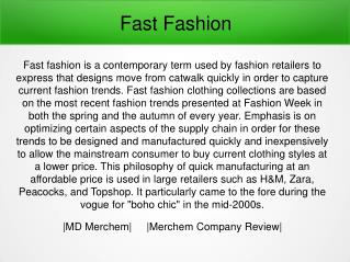Merchem Company Review - Fast Fashion