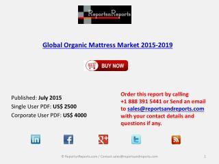 Global Organic Mattress Market 2015-2019