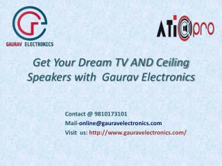 Ceiling/Tv speakers in India