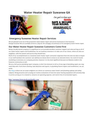 Water Heater Repair Suwanee