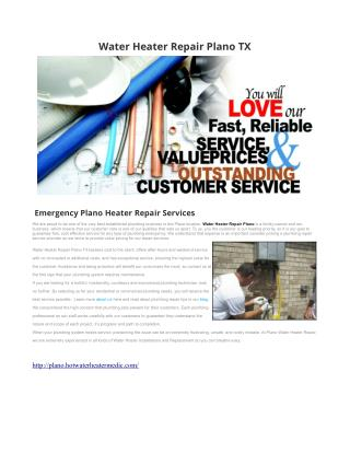 Water Heater Repair Plano