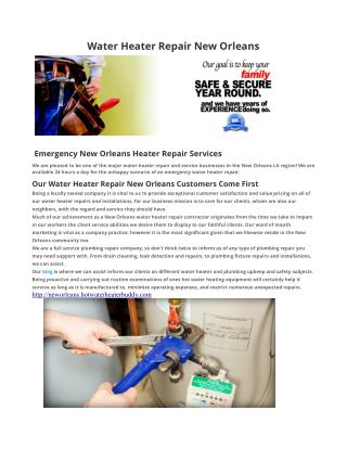 Hot Water Heater Repair New Orleans