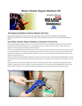 Water Heater Repair Madison