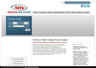 American High Voltage Power Supply