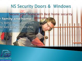 Home Security Doors & Windows