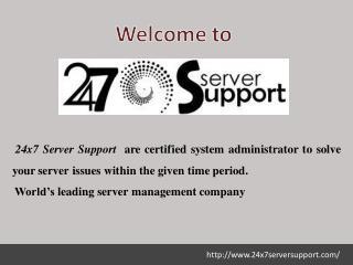 cpanel Server Management Service- 24x7 Server Support