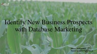 Identify New Business Prospects with Database Marketing