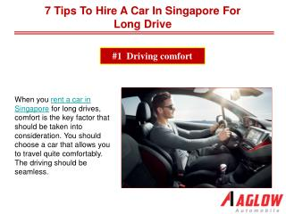 7 tips to hire a car in Singapore for long drive