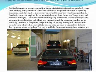 Auto Body Repair Shop Calgary