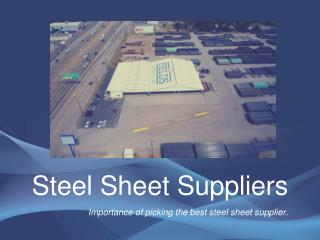 Steel Sheet Suppliers