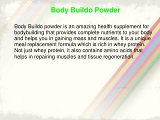 Body Buildo Mass Gainer and Muscle Builder