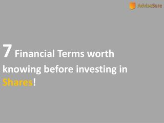 7 TERMS TO KNOW FOR MAKING MONEY IN STOCK MARKET