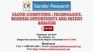 Cloud Computing: Technology, Business Opportunity and Patent Analysis Market Growth Analysis by End-user