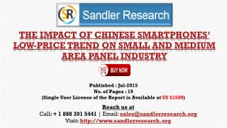 The Impact of Chinese Smartphones' Low-Price Trend on Small and Medium Area Panel Industry Growth Report
